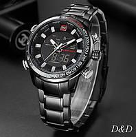 Часы мужские брендовые NAVIFORCE SAVONNA BLACK NF9093М, фото 1
