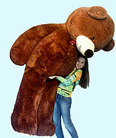 Огромный мягкий медведь 2,5 метра (коричневый), фото 1