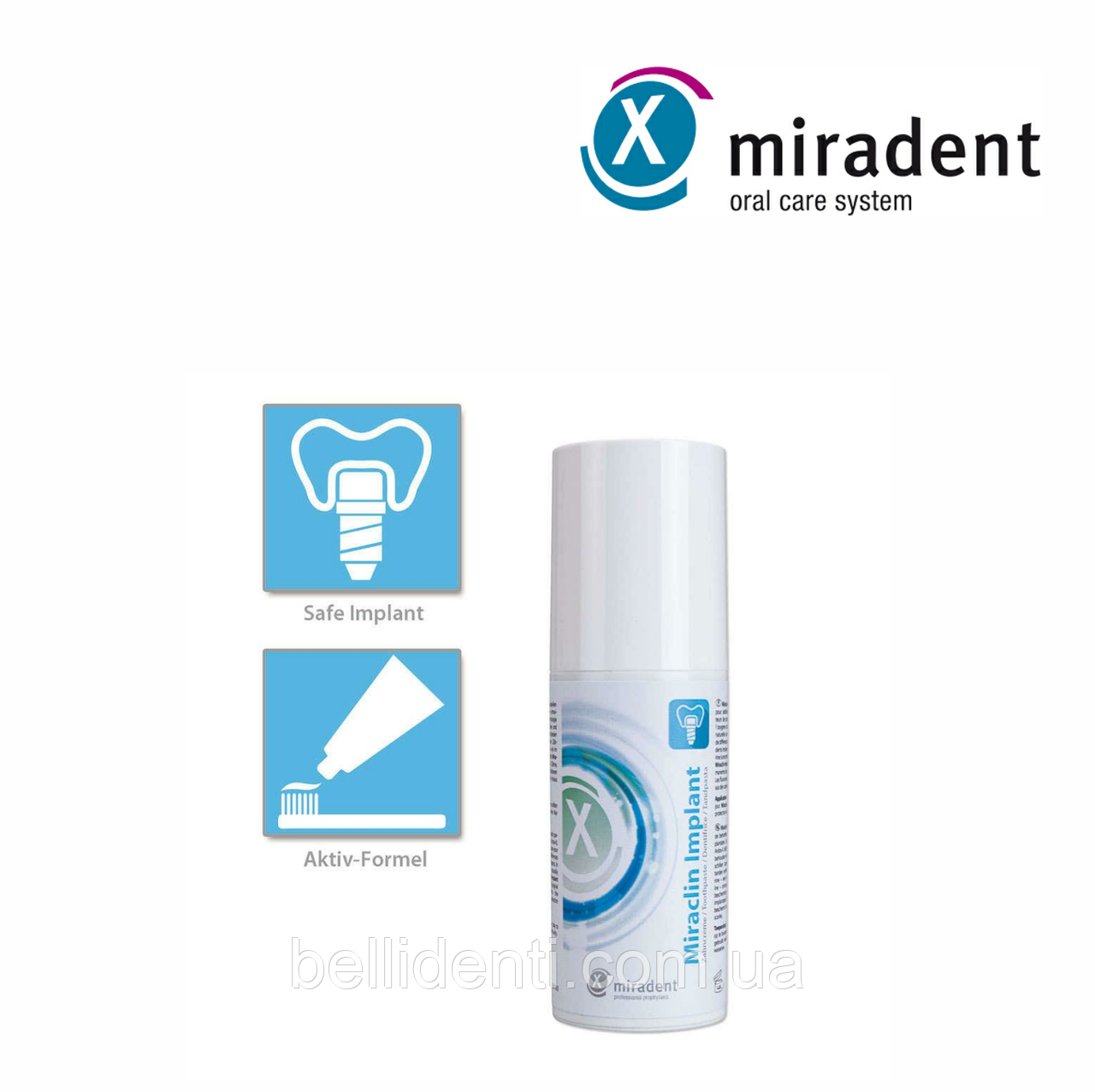 Зубная паста miradent Miraclin Implant, 100 мл