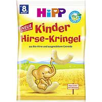 HiPP Bio Kinder Hirse-Kringel - Детские кукурузно-пшенные палочки, 30 г