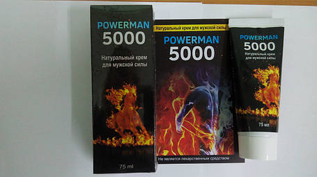 POWERMAN-5000 - Крем для увеличения длины и объёма (Павермен), фото 2