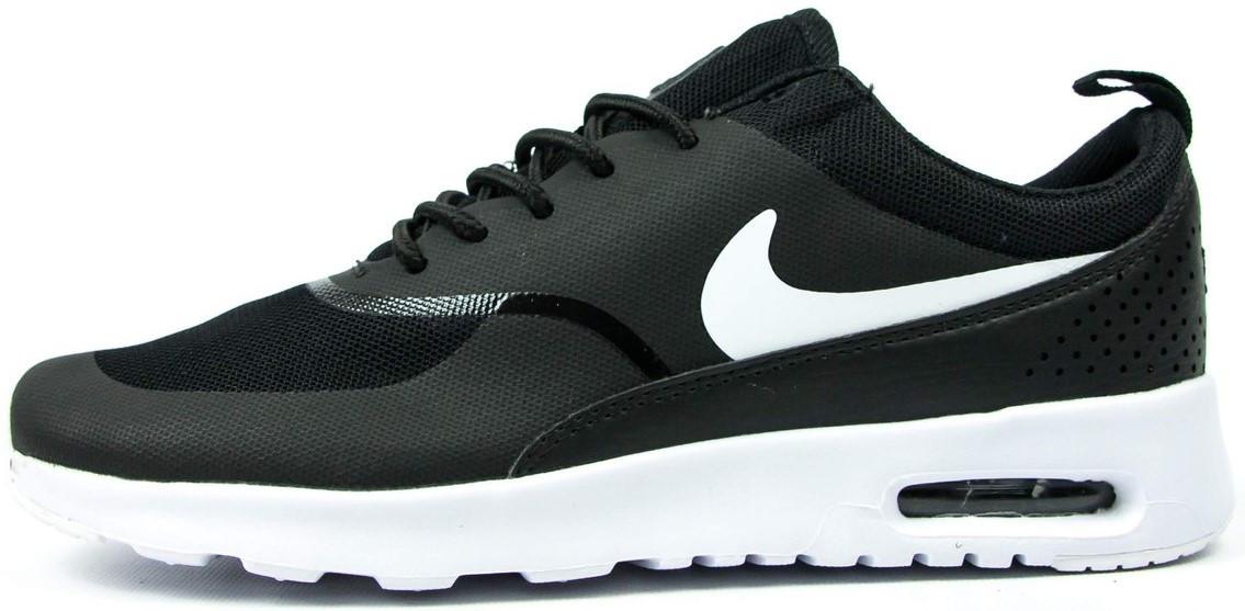 "Женские кроссовки Nike Air Max Thea ""Black/White"" (Найк Аир Макс) черные"