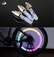 Светодиодный колпачок на нипель (разноцветная LED подсветка колеса), изменяющийся цвет