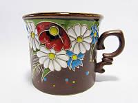 Чашка глиняная малая обрезная Поляна (С росписью Поляна)