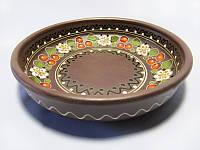 Миска глиняная маленькая Вишня (С росписью Вишенка)