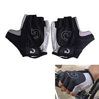 Перчатки велосипедные Moke, серые, р-р M (вело велоперчатки экипировка беспалые спортивные)