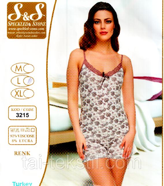 Вискозный комплект майка с шортами №3215-5