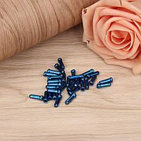 Заглушка - колпачок на конец троса для велосипедных тормозов и переключателей, синяя (к-т 10 шт)