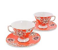 Чайный набор на 2 персоны Антонелла костяной фарфор AS-43