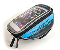 Велосумка для смартфона (сумка на руль велосипеда для мобильного телефона) B-Soul, синяя