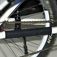 Защитная накладка на перо велосипеда (мочалка), чёрная без рисунков
