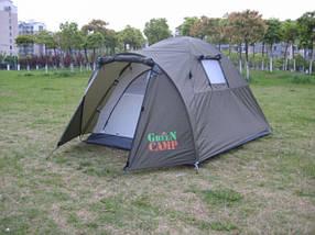 Туристическая палатка Green Camp 3006 2-х местная. 2-х слойная. Тамбур