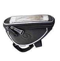 Велосумка для смартфона (сумка на руль велосипеда для мобильного телефона) Roswheel, чёрная, р-р M