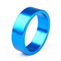 Кольцо проставочное на рулевую колонку велосипеда, алюминиевое, синее