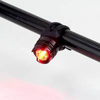 Задний фонарь для велосипеда 1 Led алюминиевый, чёрно-красный (стоп-сигнал, мигалка, вело, велосвет)