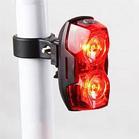 Задний фонарь для велосипеда 2 Led RayPal 2230, прямоугольный (стоп-сигнал, мигалка, вело, велосвет)