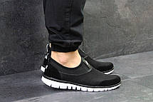 Мужские кроссовки Nike,летние,сетка,черно-белые 44, фото 2