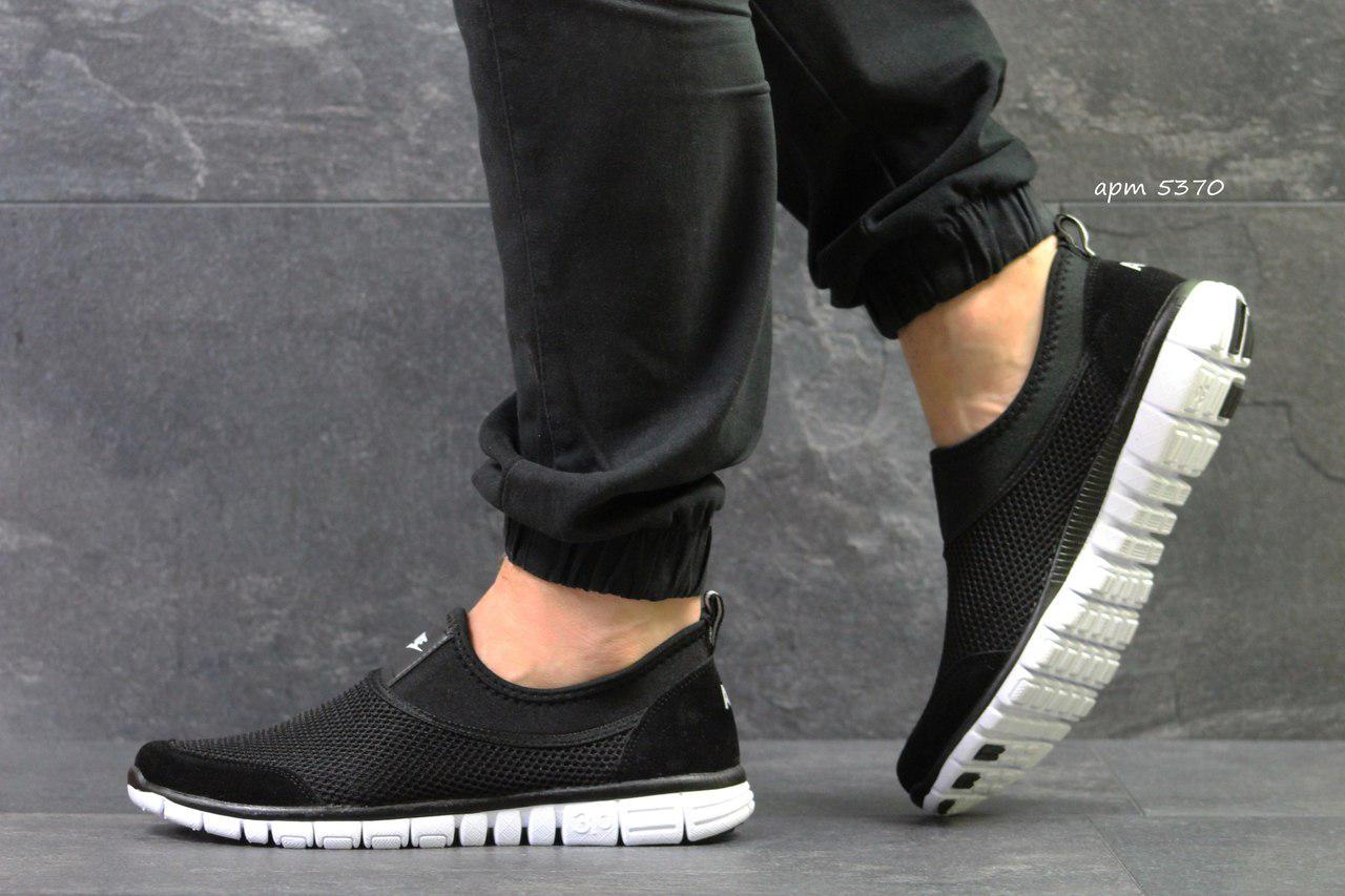 Мужские кроссовки Nike,летние,сетка,черно-белые 44