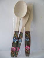 Набор столовый расписной (Деревянные вилки, ложки, лопатки)