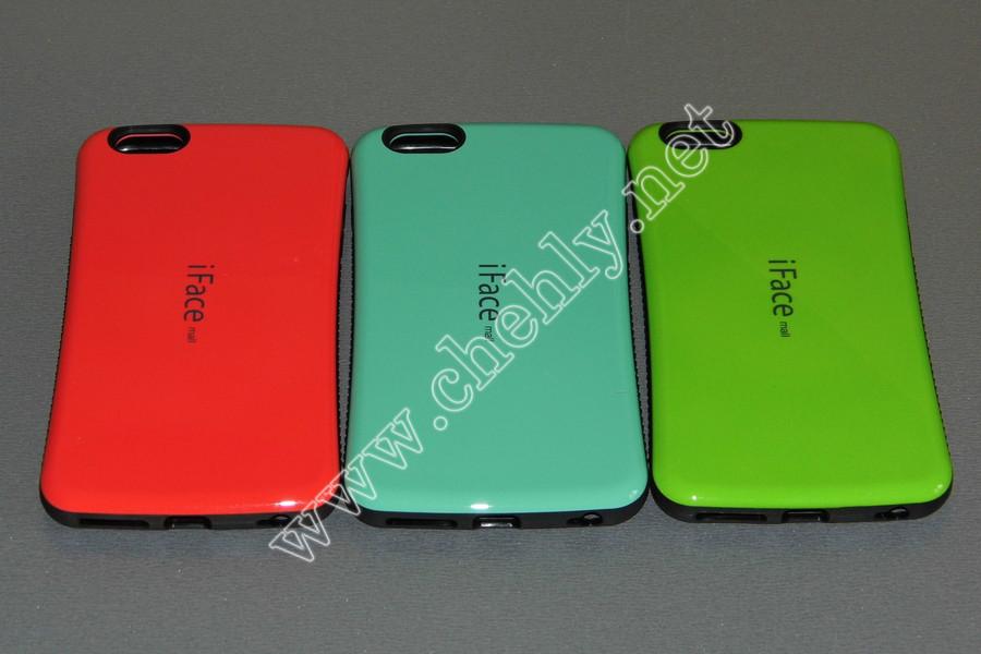 Силиконовый чехол c глянцевой пластиковой спинкой iPhone 6 Plus iFace