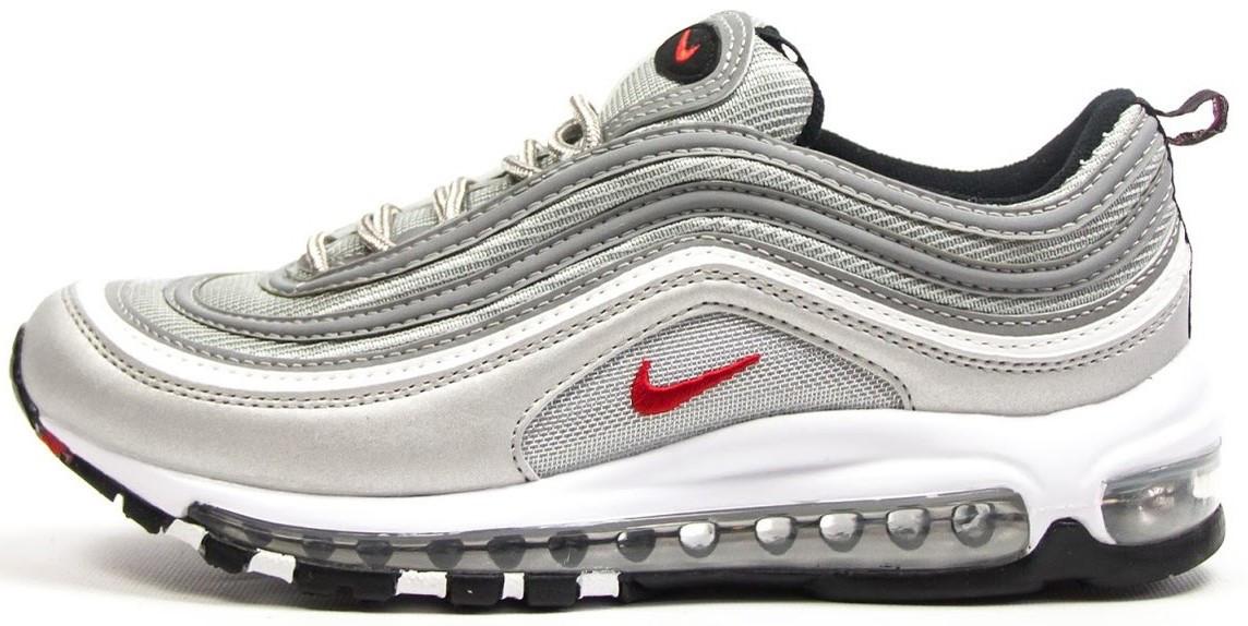 "Женские кроссовки Nike Air Max 97 ""Grey/White"" (Найк Аир Макс) серые"