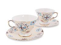 Чайный набор на 2 персоны Антонелла из костяного фарфора AS-46