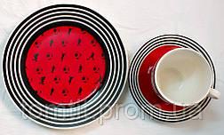 """Набор посуды (3 предмета) """"Футбол"""" - цвет красный, фото 3"""