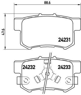 LPR 05p1404 тормозные колодки (задние) Honda ACCORD VIII, Honda CR-V II