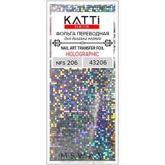 KATTi Фольга переводная NFS 206 holographic серебро (круги калейдоскоп) 25см, фото 2