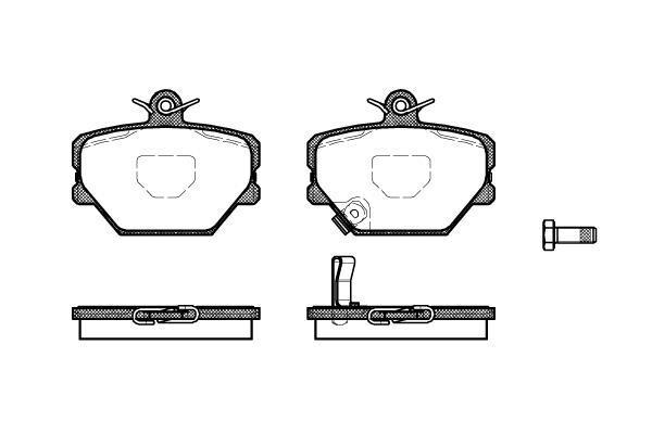 LPR 05p761 гальмівні колодки (передні) Smart CABRIO, Smart CROSSBLADE
