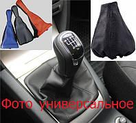 Чехол КПП короткий BK/RD Кожа черный- красный (комбинированный) Аvtoban