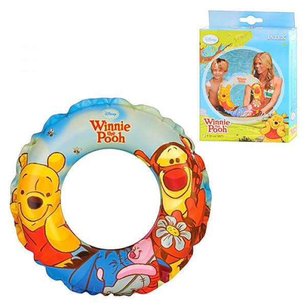 """Дитячий надувний круг Intex 58228 """"Winnie the Pooh"""", 51см"""