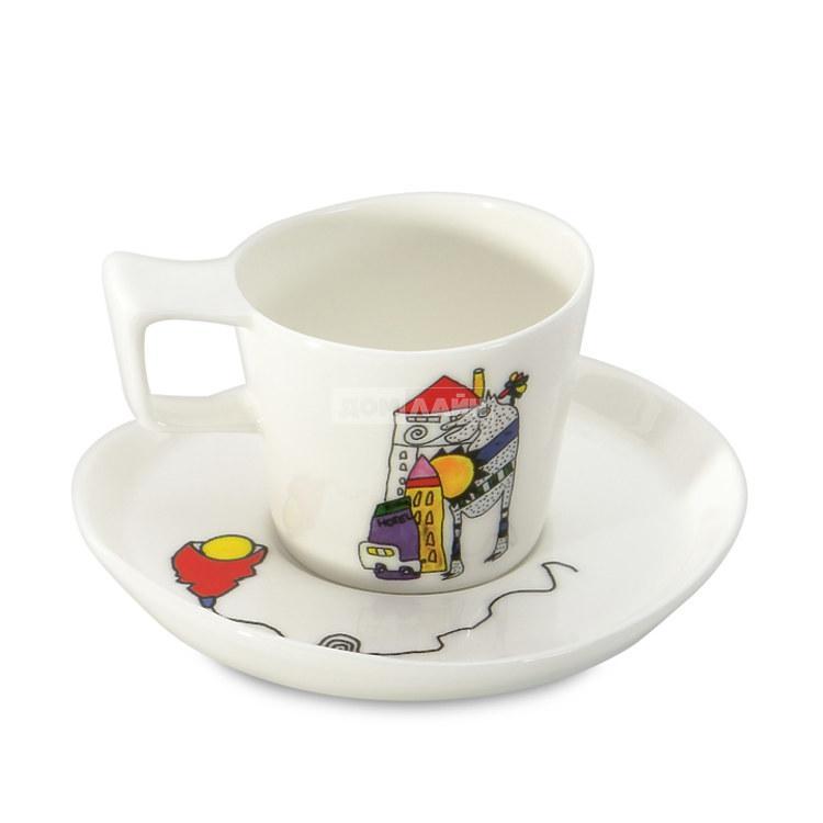 Чашка для эспрессо Berghoff 3705022 Eclipse Ornament с блюдцем 80 мл 2 шт