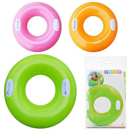 """Детский надувной круг Intex 59258 """"Цветной"""" 76см, фото 2"""