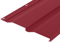 Металлический сайдинг Корабельная доска Красный