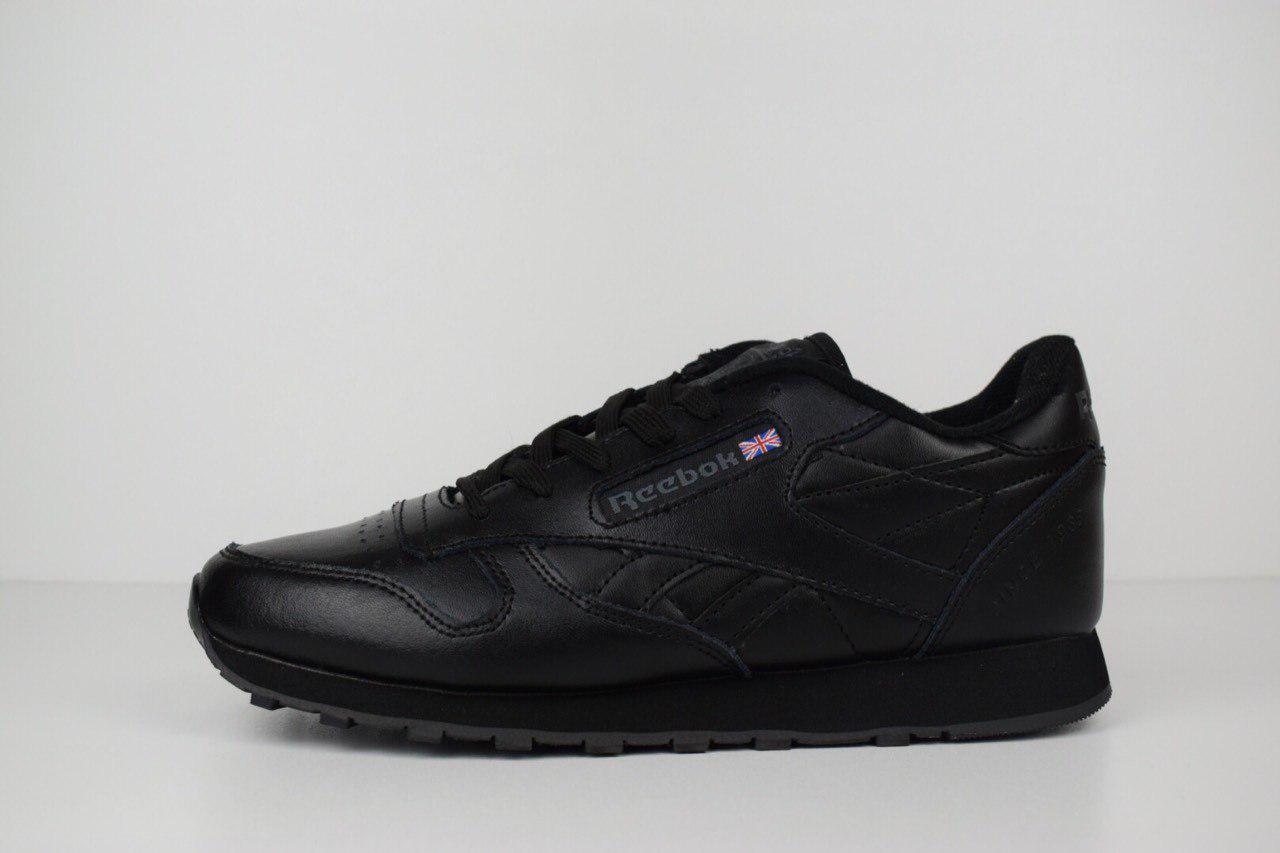 615682ce Мужские кроссовки Reebok Classic 1983 черные полностью кожа 1460 - Компания