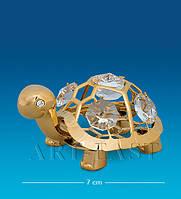 Фигурка с кристаллами Сваровски Черепаха 7 см AR-1286