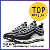 Женские кроссовки Nike Air Max 97, черные / кроссовки женские Найк Аир Макс 97, кожаные, удобные, модные