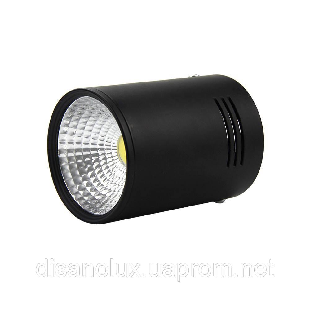 Светильник Downlight светодиодный LED накладной COB 20W  4200К  черный