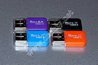Картридер USB – microSD маленькая флешка с крышкой