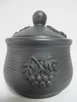 Сахарница Рябина Гаварецкая керамика (Гаварецкая глиняная посуда)