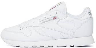 Оригинальные кроссовки Reebok Classic Leather (Рибок Классик) белые