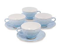 Чайний набір на 4 персони Лаце Росса з кістяного порцеляни AS-05, фото 1