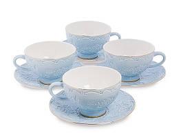 Чайный набор на 4 персоны Лаце Росса из костяного фарфора AS-05