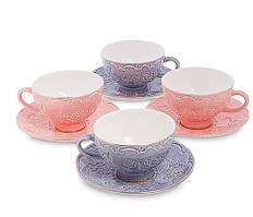 Чайный набор на 4 персоны Дольче Луиза из костяного фарфора AS-07