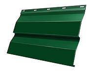 Металлический сайдинг Корабельная доска Зеленый