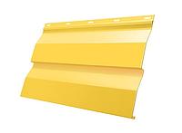 Металлический сайдинг Корабельная доска Желтый