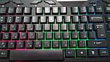 Клавиатура мультимедийная с LED подсветкой FANTECH K10 HUNTER, USB, фото 3