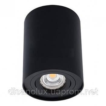 Светильник  светодиодный накладной  поворотный  LED Downlight  TD-001 GU10  220V  черный