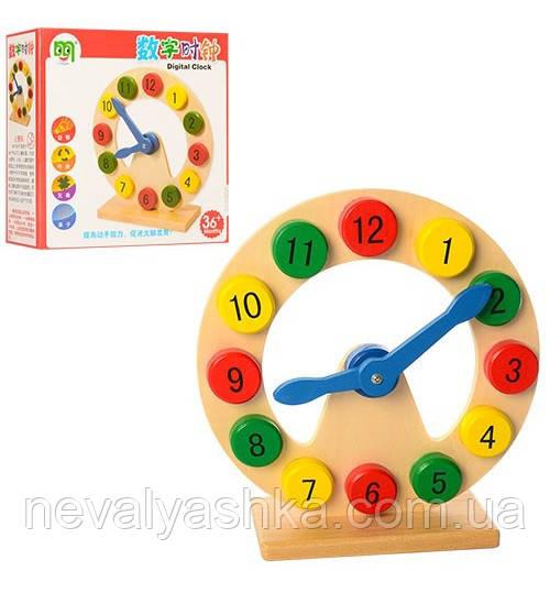 Деревянные Игрушки Часы, MD 1214, 008480